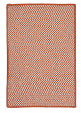 Outdoor Houndstooth Tweed OT19 Orange Braided Rug by Colonial Mills
