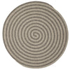 Woodland Round RD-OL43 Dark Gray Braided Wool Rug by Colonial Mills