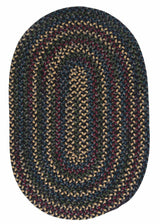 Midnight MN47 Carbon Braided Wool Rug by Colonial Mills