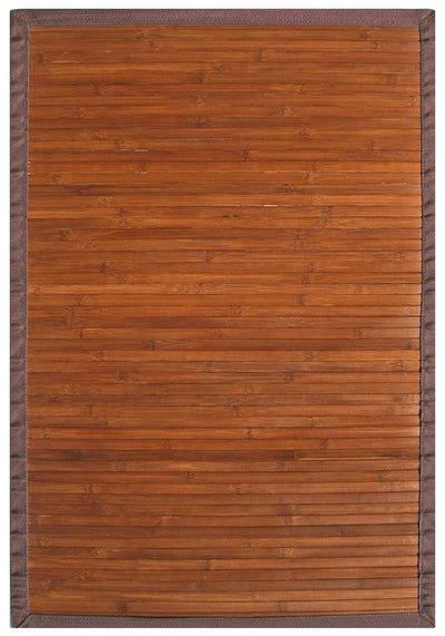Chocolate Brown Bamboo Floor Mat |  Handmade | 6x9, 5x8, 4x6, 2x3