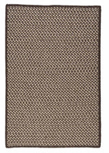 Natural Wool Houndstooth HD36 Espresso Braided Wool Rug by Colonial Mills