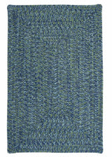 Catalina CA49 Deep Sea Blue Braided Indoor Outdoor Rug by Colonial Mills