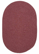 Bristol WL29 Mauve Red Braided Wool Rug by Colonial Mills