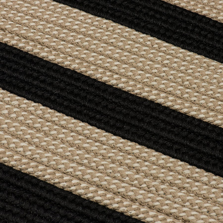 Boat House BT19 Black Braided Indoor Outdoor Rug by Colonial Mills - Select Area Rugs