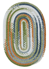 Rag-Time Cotton Blend Braided Rug RR21 Orange & Multi Braided Rug by Colonial Mills