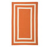 La Playa PY41 Tangerine Braided Rug by Colonial Mills