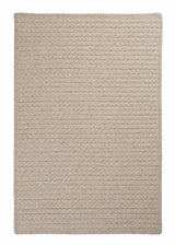 Natural Wool Houndstooth HD31 Cream Braided Wool Rug by Colonial Mills