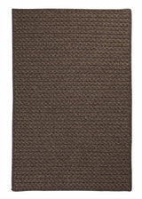 Natural Wool Houndstooth HD35 Cocoa Braided Wool Rug by Colonial Mills