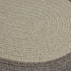 Hudson HN21 Light Gray Braided Wool Rug by Colonial Mills