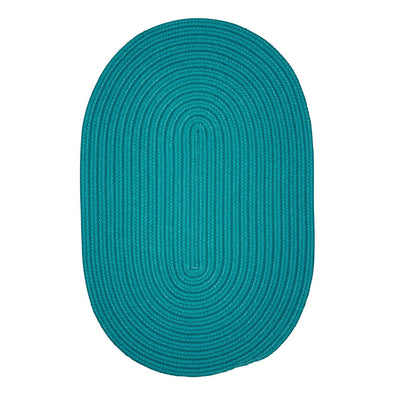 Boca Raton BR50 Teal Braided Indoor Outdoor Rug by Colonial Mills