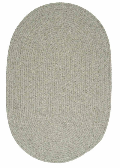 Bristol WL15 Moss Green Braided Wool Rug by Colonial Mills