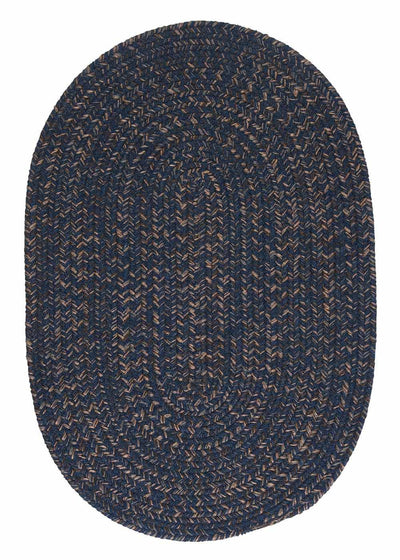 Hayward HY59 Navy Braided Wool Rug by Colonial Mills