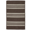 Sunbrella Southport Stripe UH09 Mink Braided Rug by Colonial Mills