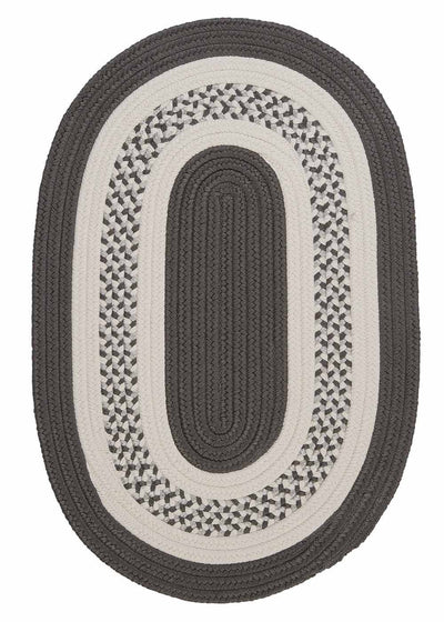 Crescent NT11 Gray Braided Rug by Colonial Mills