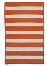 Stripe It TR19 Tangerine Indoor/Outdoor Rug by Colonial Mills