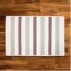 Cream, Brown & Duck Egg Blue Striped Braided Wool Rug | Limited Edition Polo Street Collection