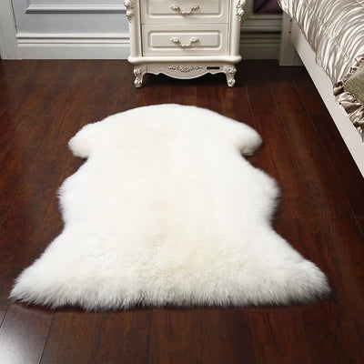 Cream New Zealand Sheepskin Rug | 100% Real | Free Shipping & Money Back Guarantee