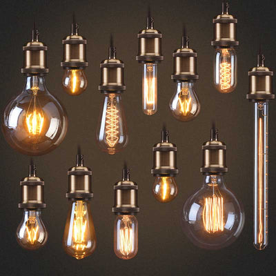 Edison Bare Bulb Pendant Lighting | Copper, Brass, Steel, Matte Black Finnish