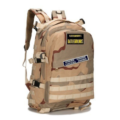 PUBG Playerunknown's Battlegrounds Winner Chicken Dinner Level 3 Backpack Multi-functional Backpack Multicolor