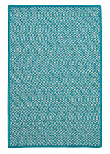 Outdoor Houndstooth Tweed OT57 Turquoise Braided Rug by Colonial Mills