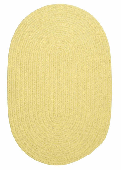 Bristol WL14 Yellow Braided Wool Rug by Colonial Mills