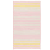 Frazada Stripe FZ79 Pale Pink/Yellow Braided Wool Rug by Colonial Mills