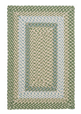 Montego MG19 Lily Pad Green Braided Rug by Colonial Mills