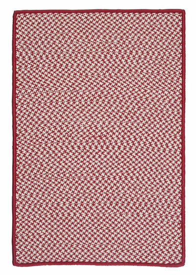 Outdoor Houndstooth Tweed OT79 Sangria Braided Rug by Colonial Mills
