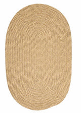 Softex Check CX13 Pale Banana Check Braided Rug by Colonial Mills