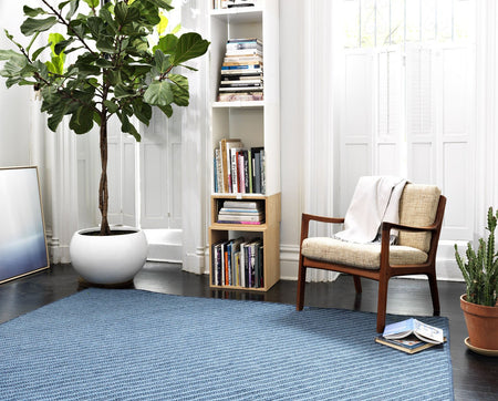 Blue Hill BI51 Navy Braided Wool Rug by Colonial Mills - Select Area Rugs