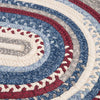 Olivera O-OV09 Antique Red Braided Rug by Colonial Mills