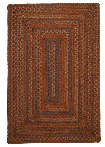 Ridgevale RV70 Audobon Russet Braided Wool Rug by Colonial Mills