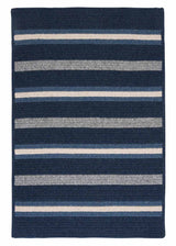 Salisbury LY29 Navy Braided Wool Rug by Colonial Mills