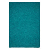 Simple Chenille M920 Teal Braided Rug by Colonial Mills