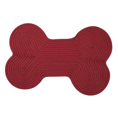 Dog Bone Solid H578 Sangria Braided Rug by Colonial Mills