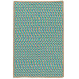 Point Prim IM03 Teal Braided Rug by Colonial Mills
