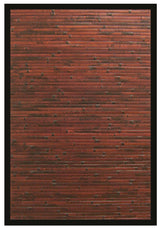 Dark Brown Bamboo Floor Mat | Handmade | 7x10, 6x9, 5x8, 4x6, 2x3