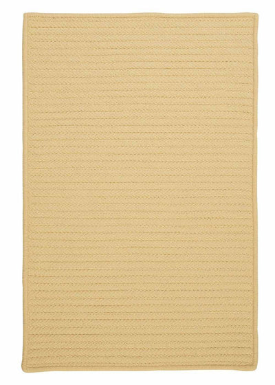 Simply Home Solid H833 Pale Banana Indoor/Outdoor Ultra Durable Rug by Colonial Mills
