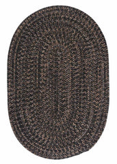 Hayward HY19 Black Braided Wool Rug by Colonial Mills