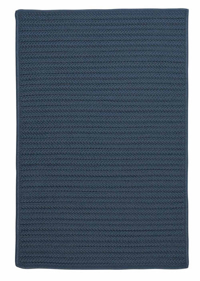 Simply Home Solid H041 Lake Blue Indoor/Outdoor Ultra Durable Rug by Colonial Mills