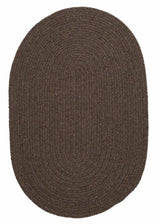 Bristol WL35 Bark Brown Braided Wool Rug by Colonial Mills