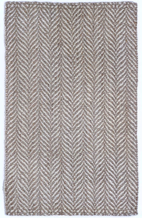 Brown, White & Cream Jute Rug  | Chunky Handmade Natural Fiber Rug - Select Area Rugs