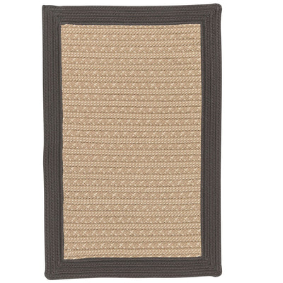 Bayswater BY43 Gray Braided Rug by Colonial Mills