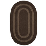 Graywood GW03 Brown Braided Wool Rug by Colonial Mills