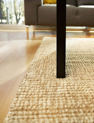 Natural Twill Weave Jute Rug | Handmade Rug With Chunky Diagonal Weave