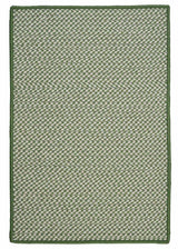 Outdoor Houndstooth Tweed OT68 Leaf Green Braided Rug by Colonial Mills