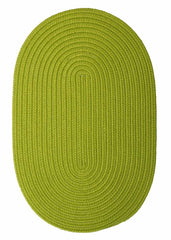 Solid Lime Green Oval Braided Rug by Colonial Mills