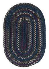Midnight MN57 Indigo Braided Wool Rug by Colonial Mills