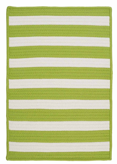 Stripe It TR29 Bright Lime Indoor/Outdoor Rug by Colonial Mills