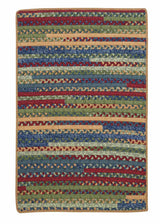 Market Mix Rect. MM03 Sea Glass Braided Rug by Colonial Mills